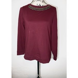 Susan Graver Embellished Pullover Sweater